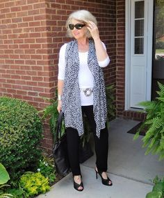 Fifty, not Frumpy: Black and White Geo Print More