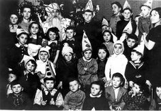 Kovno, Lithuania, A group of children, probably during Purim.