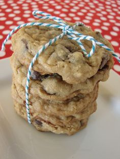 Chewy Oatmeal, Coconut, Chocolate Chip Cookies