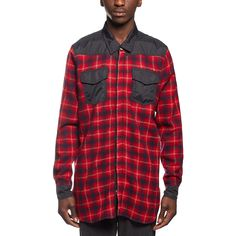 Flannel shirt from the F/W2016-17 Off-White c/o Virgil Abloh collection in red