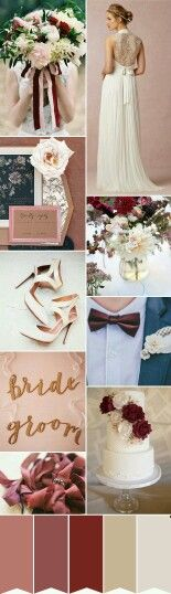 Rich Romance using Marsala & Blush