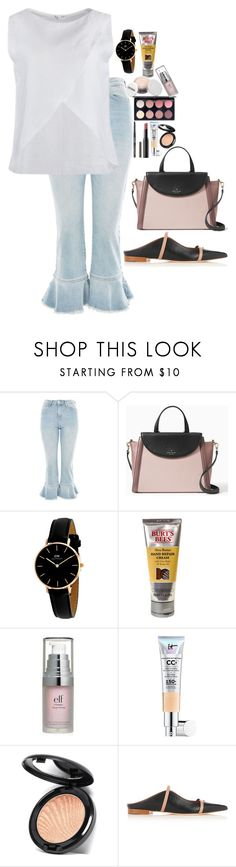 """""""Untitled #4949"""" by veronicaptr ❤ liked on Polyvore featuring Topshop, Kate Spade, Daniel Wellington, Burt's Bees, e.l.f., It Cosmetics and Malone Souliers"""