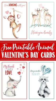 Free Valentine's Day cards and tags. Pretty watercolour designs for everyone in your life!