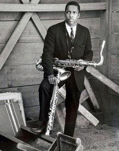 John Coltrane,1961, by Jerry Stoll