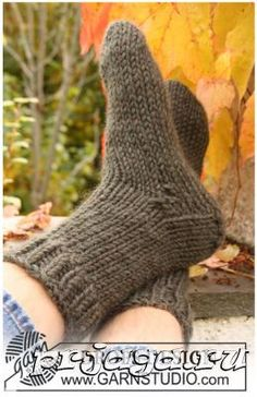 Вязаные носки спицами для мужчин