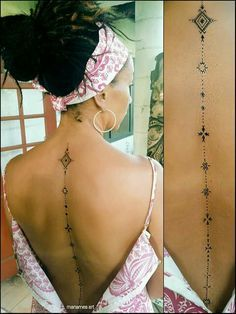 spine tattoos womens - Buscar con Google