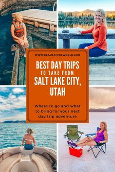 Whether you're local, visiting, or using the city as a home base to explore, there are many great day trips from Salt Lake City. Get ready for some great adventues with these epic spots in Northern Utah! #slc #slcutah #saltlakecityutah #utah Salt Lake City Utah, Antelope Island State Park, Utah State Parks, Ogden Utah, Millcreek Canyon, Big Cottonwood Canyon, Park City Utah, Midway Utah, Bear Lake Utah, Bonneville Salt Flats Utah, Bonneville Speedway