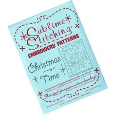 Christmas Time Embroidery Pattern | Sublime Stitching