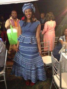shweshwe dresses 2016 Archives - style you 7 Latest African Fashion Dresses, African Print Dresses, African Dresses For Women, African Print Fashion, African Attire, African Clothes, Xhosa Attire, Africa Fashion, African Prints