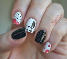 Inspired by Nails- Edgar Allan Poes The Raven with Tutorial! - Lanie Buck