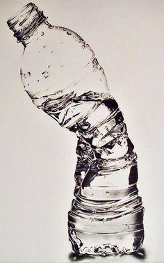 ♥ Crushed Waterbottle - Susan Kim (Pencil Drawing)