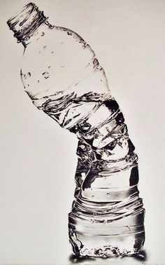 Crushed Waterbottle - Susan Kim (Pencil Drawing)