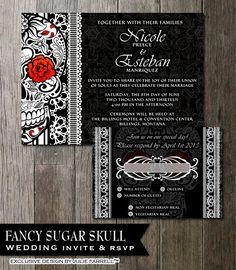 Sugar Skull Wedding Invitation Calaveras Wedding Halloween Wedding Day Of  The Dead Dia De Los Muertos DIY Printable Wedding Invite