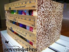 http://sevensistersinchrist.blogspot.com/2011/06/crate-made-out-of-yardsticks.html