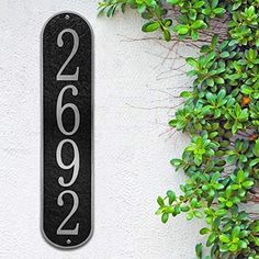Address Plaques For House, House Number Plaque, House Address, House Numbers, Address Numbers, Type Setting, Home Signs, Midcentury Modern, Curb Appeal