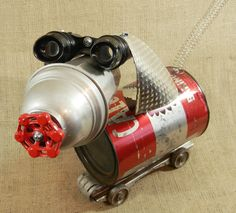 Closeout Item - dog sculpture - CALLI -  assemblage sculpture - Reclaim2Fame