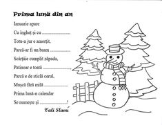 Prima luna din an Anul Nou, Alphabet, Words, School, Winter, Quizes, Literatura, Reading, Figurine