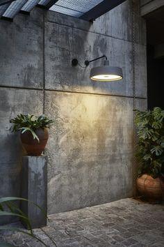 Soho A wall lamp for outdoor by Joan Gaspar | #InteriorDesign #Decor #WallLamp #LuxuryLighting #MidCentury For more inspiring images, click here: http://www.delightfull.eu/en/