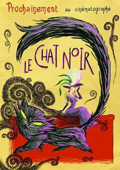 Le Chat Noir TVP Animation Cat Posters, Film Posters, Frozen Coloring, Creepy Carnival, Art Nouveau Poster, Beautiful Dark Art, Vintage Posters, French Posters, Black Cat Art