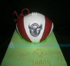 Manly Sea Eagles birthday cake. made in australia