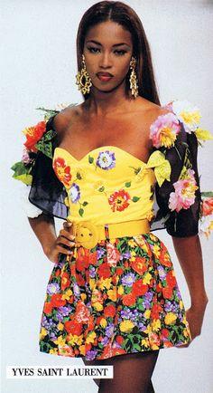 YSL s/s 1992 feat Naomi Campbell http://80s90sredux.tumblr.com/