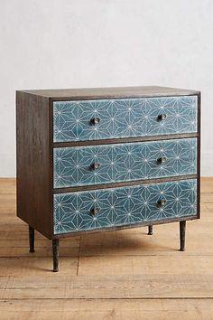 ✧☽ #Bohemefit Chest and Drawer ☾✧ #anthro Boro Star Three-Drawer Dresser