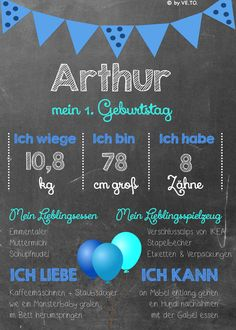 Arthur 1 Geburtstag