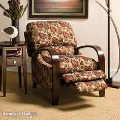 Give your living room an elegant, yet striking look with a contemporary accent chair like this Molly Reclining Chair.