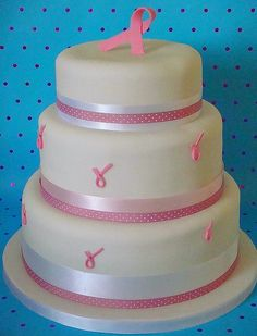Breast Cancer Charity Cake by handmadebyhannah