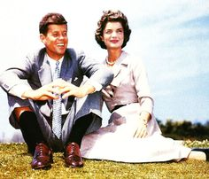 Jack and Jackie as an engaged couple, 1953.