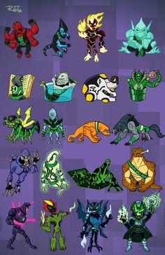 Ben 10 chibis 4 by rubtox on DeviantArt Ben 10 Alien Force, Ben 10 Ultimate Alien, Ben 10 Omniverse, Akatsuki, Ben 1o, Ben 10 Party, Ben 10 Birthday, Ben 10 Comics, Les Aliens