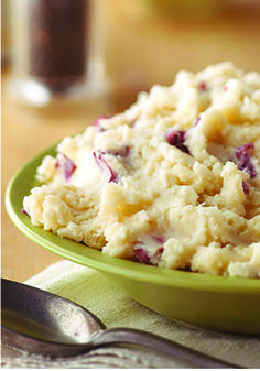 Creamy Parmesan Mashed Potatoes – Yes, these Creamy Parmesan Mashed Potatoes are a Healthy Living side dish recipe. No, we're not kidding! Plus, they'll be a real crowd-pleaser at your holiday party.
