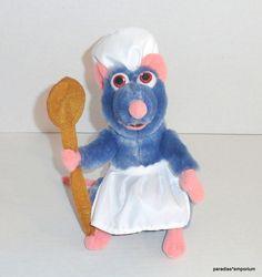 """Disney Parks Ratatouille 9"""" Chef Remy Plush Apron & Spoon P57 #Disneytoys"""