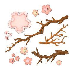 Spellbinders Créer une Fleur Fleurs de Cerisier Die D-Lites-New Universal Fit