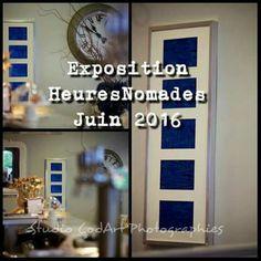 Exposition HEURESNOMADES Bar La Cigale  ~ 22000 Saint-Brieuc.   Expériences artistiques. Encre / Aluminium / Carton. #juin#heuresnomades2016