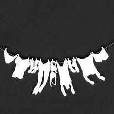 Collier  linge suspendu à une corde à linge par oronkol sur Etsy