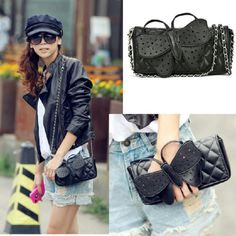 Cute Butterfly Leather Handbag New Detachable shoulder strap Can be used as a clutch Boutique Bags Satchels