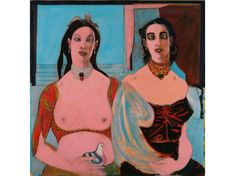 BEST PAINTINGS IN NEW YORK MUSEUM OF MODERN ART| Two Sisters (1944), John Graham | www.bocadolobo.com #greatartists #artists