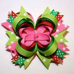 colorful and cute. Over top Christmas bow
