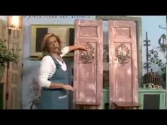 Joanne Archambault shared a video Hand Painted Furniture, Recycled Furniture, Vintage Shabby Chic, Shabby Chic Decor, Antique Booth Ideas, Craft Videos, Furniture Makeover, Chalk Paint, Decoupage