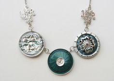 Elegante collar de mixta - joyas de Nespresso, reciclar, reciclado, Eco amigable café cápsulas collar.