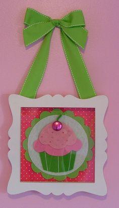 Cupcake Wall Art Pink