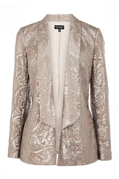 Paisley Embellished Jacket: Enter the party season in style with this metallic paisly print jacket, oozing in chic glamour. Get yours now at: http://www.warehouse.co.uk/paisley-embellished-jacket./all/warehouse/fcp-product/5511913091