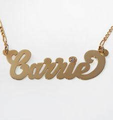 Custom Nameplate Necklace - Patricia Field