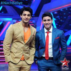 Super handsome #NachBaliye hosts Karan Wahi and Gautam Rode always keep us entertained.