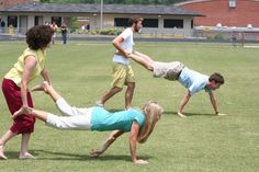 wheelbarrow race  this was one of the things we did on Field Day also Sack rases