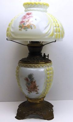 Milk Glass Kerosene Lamp