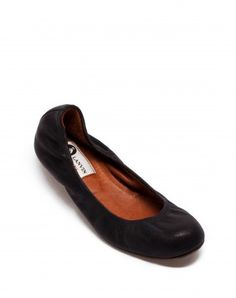 Lanvin Leather Ballerina Flats. The PERFECT ballet flat.