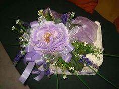 Scatola all'uncinetto  con fiori
