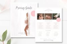 Photography Price List Template by By Stephanie Design on @creativemarket